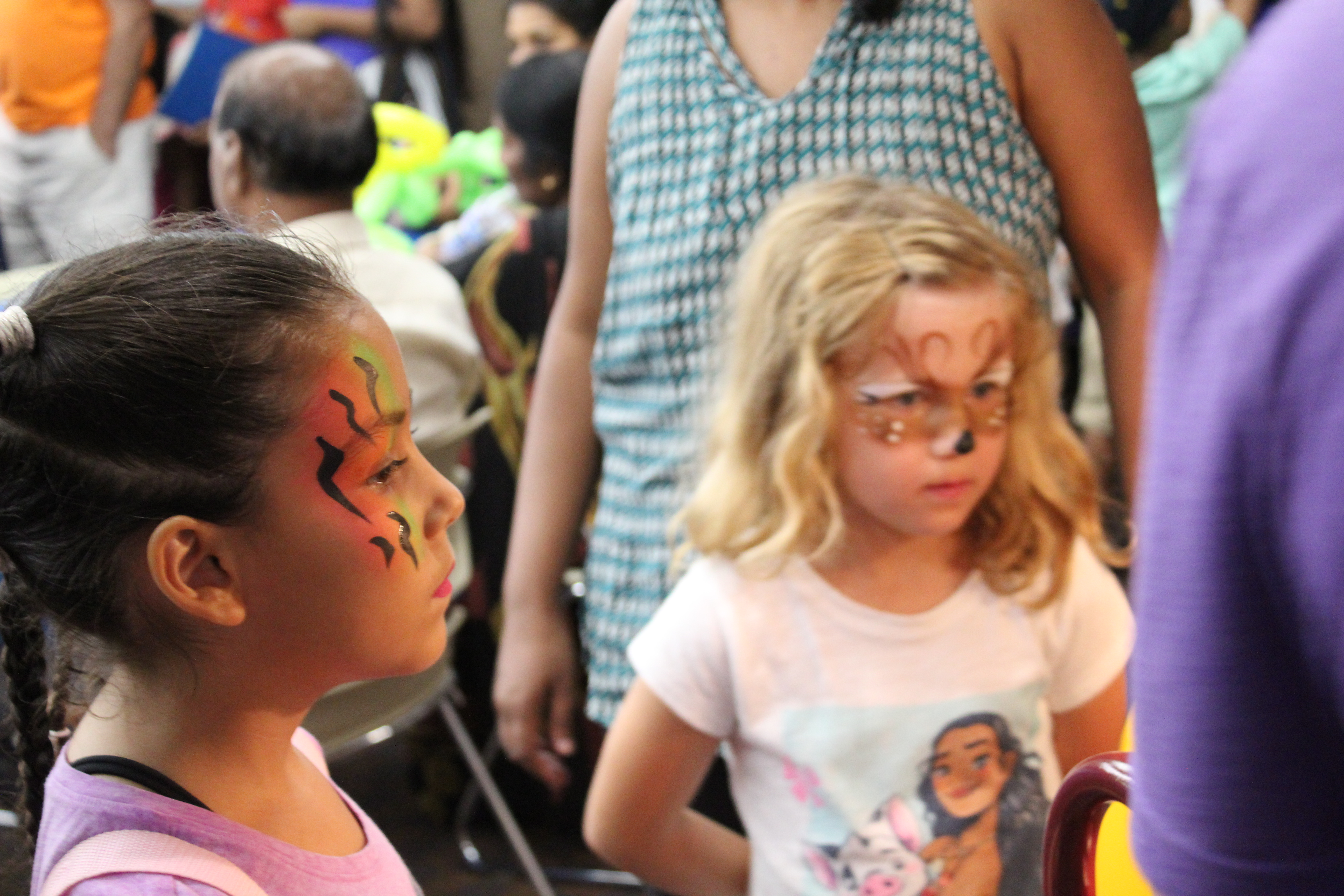 two children at the summer reading party